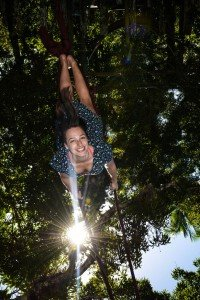 Jade Maitre on a swing - founder of TripShooter Vacation Photographer