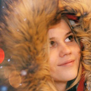 Sample image vacation photo of dreamy girl in winter in Cologne Germany