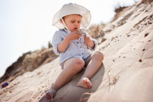 Professional photos of child on summer beach holiday by TripShooter Vacation Photographer in Dublin Dawid Zydorek