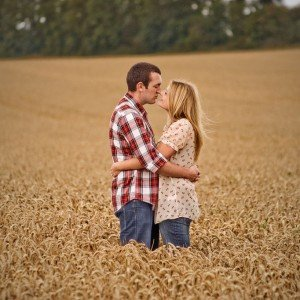 Romantic Irish couple portraits in field by TripShooter Honeymoon Photographer in Dublin Dawid Zydorek