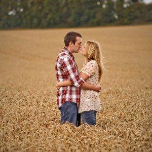 Romantic Irish couple portraits in field by TripShooter Honeymoon Photographer in Dublin Dawid Zydorek