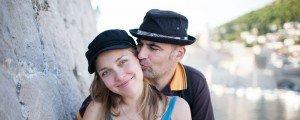 Sample image vacation photo of tourist couple in Dubrovnik Croatia