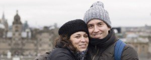 Sample image vacation photo of loving couple in Edinburgh Scotland