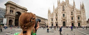 TripShooter Vacation Photographer sample portrait of tourist photography in Milan