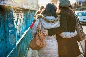 Good friends exploring Paris together in Montmartre