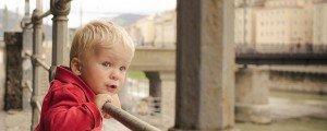 Small boy on vacation in Salzburg Austria