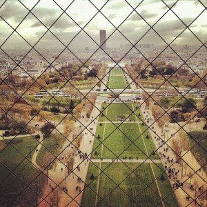 View from the Eiffel Tower in Paris France