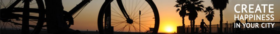 Bicycle rider at summer holiday sunset in LA, USA