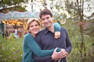 Photo portrait of loving married couple taken by TripShooter honeymoon photographer in Paris France