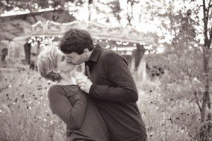 Loving kiss between married couple in France, beautiful photos by TripShooter honeymoon photographer in Paris