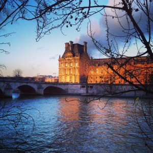 The Louvre and the Seine honeymoon destinations in Paris France