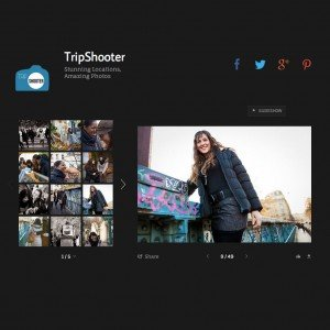 TripShooter Vacation Photographer sample gallery screen