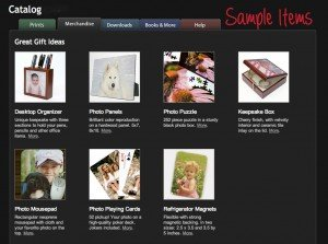 TripShooter Vacation Photographer sample merchandise products screen