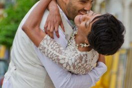 Romantic couple photo laughing embracing in love, by TripShooter Vacation Photographer in Lisbon Ricardo Junqueira