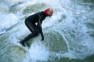 Munich river surfing germany