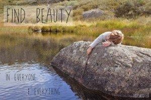 Small Boy Dreaming at natural vacation destination