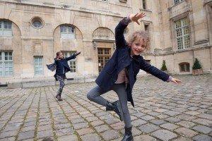 Girls dancing in Paris, France