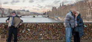 Kiss at the Pont des Arts, Paris