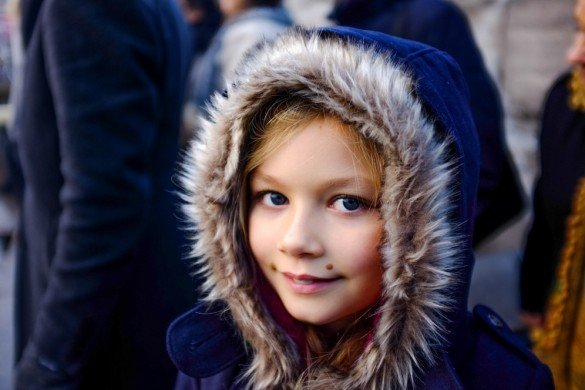 Young girl smiling in Amsterdam, The Netherlands