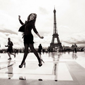 Fashion Photography with Eiffel Tower in Paris