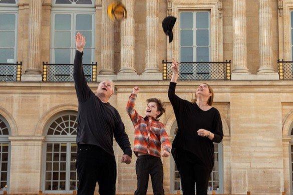 Family portrait at Palais Royale, Paris