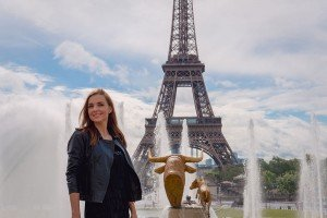 Portrait with Eiffel Tower at Trocadero, Paris