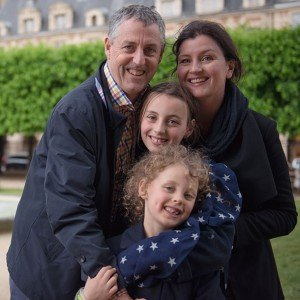 Family Portrait at Place des Vosges, Paris