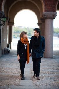Romantic vacation photos in Stockholm with a Stockholm photographer