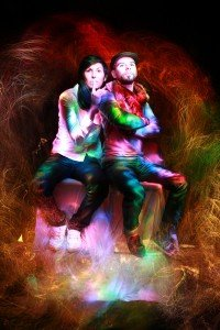 Light Painting portrait of couple by TripShooter Paris photographer Lilo Graine