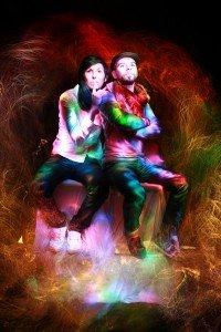 Light Painting portrait of couple by TripShooter Paris photographer Lilo Graine