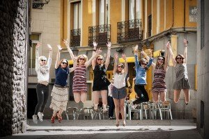 Hens Party photo in Madrid Spain with professional photographer in Madrid, TripShooter