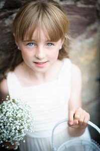 Unique family photo little girl Glasgow photographer