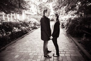 Romantic couple proposing in Paris with TripShooter private photographer