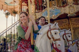 Romantic Paris honeymoon on carousel