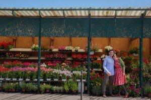 Honeymoon couple at Paris flower markets