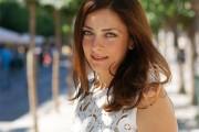 Beautiful girl walking around Athens, Greece