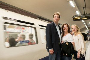 TripShooter photographs the Travel Brigade on the Tube