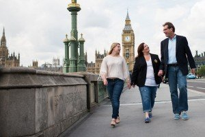 TripShooter photographs the Travel Brigade in London - Walking on the Westminster Bridge