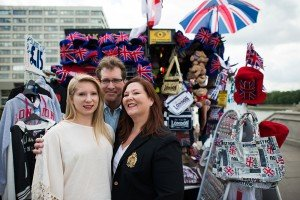 TripShooter photographs the Travel Brigade in London - at a British souvenir shop
