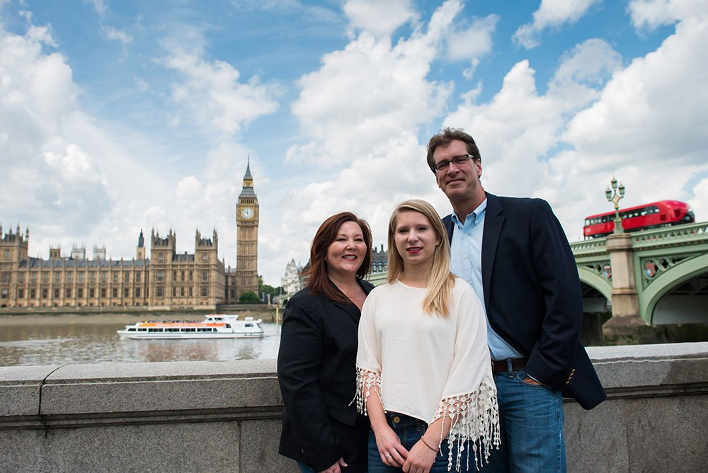 TripShooter photographs the Travel Brigade in London with the Big Ben