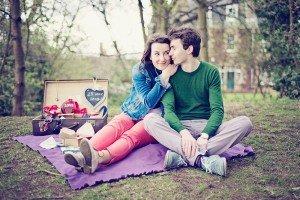 Romantic couple picnic by Ewa Wijita TripShooter Edinburgh Photographer