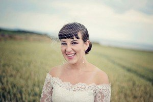 Laughing bridal photos by Ewa Wijita TripShooter Edinburgh Photographer