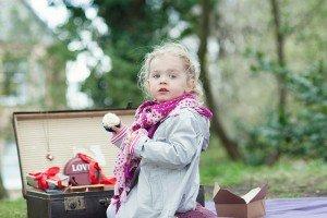 Little girl with cupcake by Ewa Wijita TripShooter Edinburgh Photographer