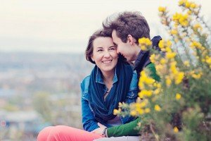 Romantic couple portrait on nature vacation by Ewa Wijita TripShooter Edinburgh Photographer