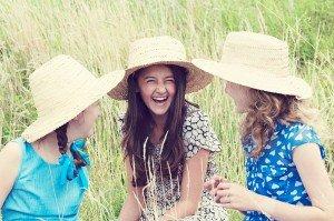 Happy friends laughing by Ewa Wijita TripShooter Edinburgh Photographer