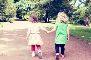 Little girl best friends by Ewa Wijita TripShooter Edinburgh Photographer
