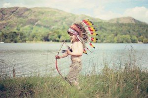 Child playing dress-ups by Ewa Wijita TripShooter Edinburgh Photographer