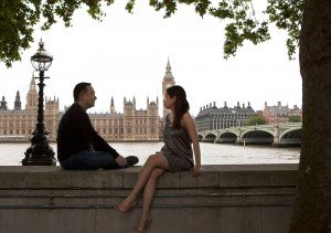 Romantic holiday photos in London by London photographer David Woolfall for TripShooter