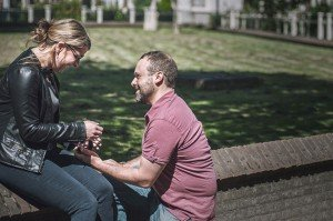 Proposing on one knee by TripShooter Amsterdam photographer Sal Marston