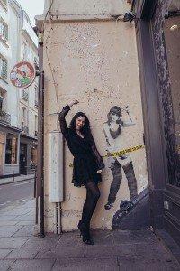 Woman dancing on fun photo tour of Paris, by TripShooter Paris photographer Jade Maitre